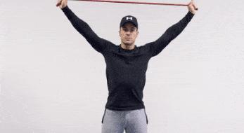 vježbe u fitnessu s trakom