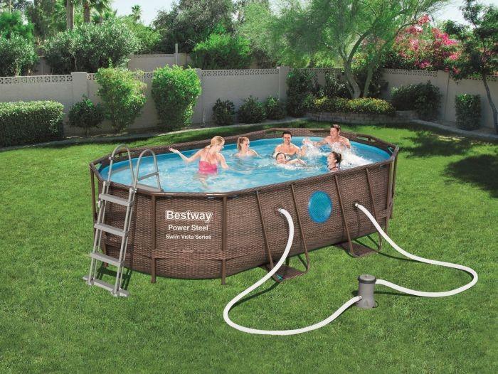 Samostojeći bazeni sa uzorkom ratana